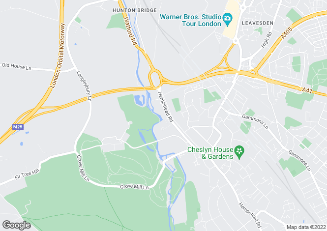 Map for Hempstead Road Watford