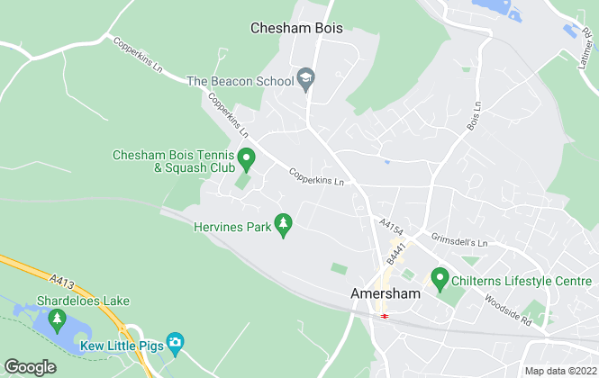 Map for Chancellors, Amersham Lettings