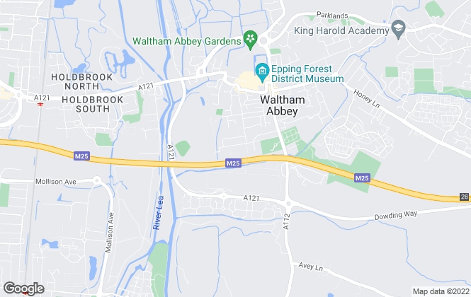 Map for Clarke Residential, Waltham Abbey