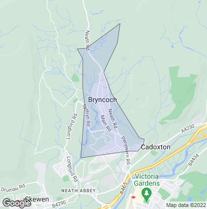 Map of property in Bryncoch