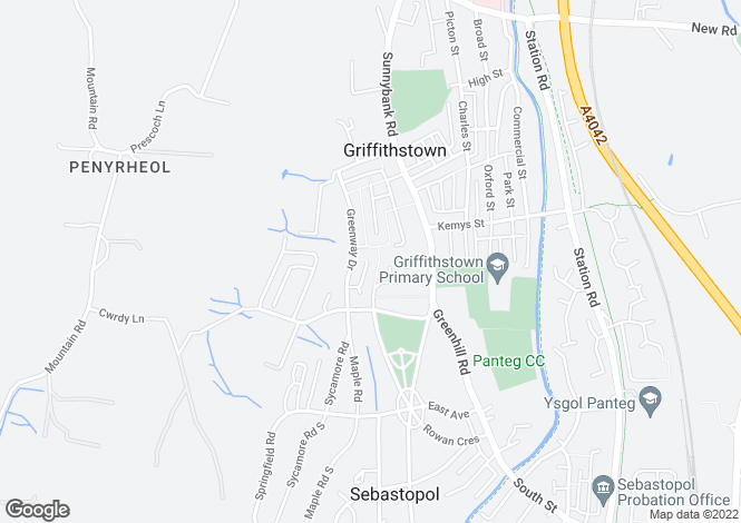 Map for Cwrdy Close, Griffithstown, PONTYPOOL