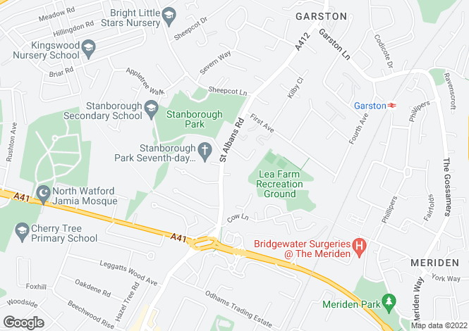 Map for Holtsmere Close, Watford WD25