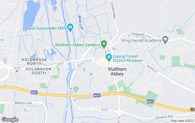 Map for Rainbow Homes, Waltham Abbey