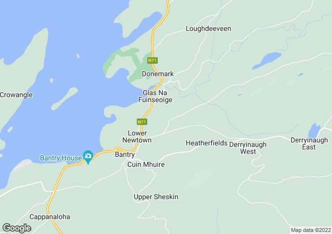 Map for Newtown East, West Cork, Bantry, Co. Cork