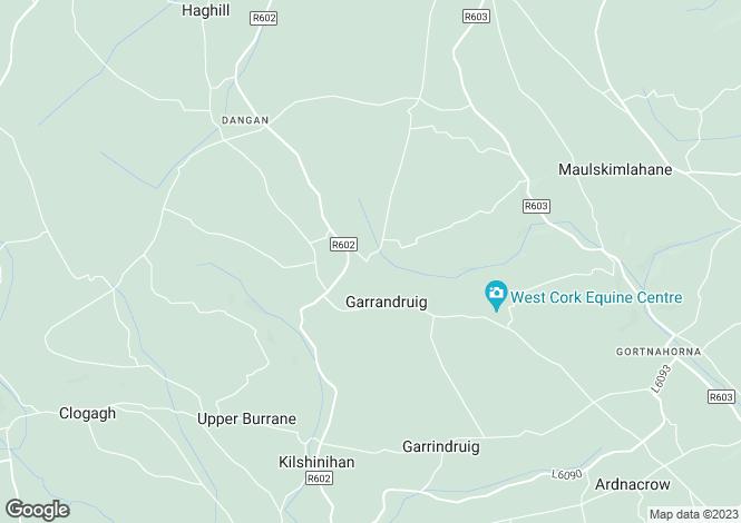 Map for Baurleigh, Bandon