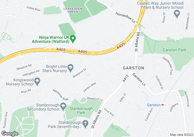 Map for Garston Crescent, Watford, Hertfordshire, WD25