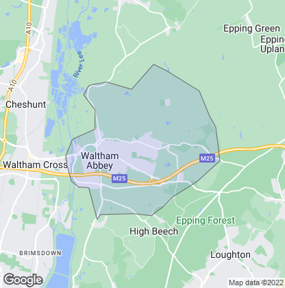 Map of property in Waltham Abbey