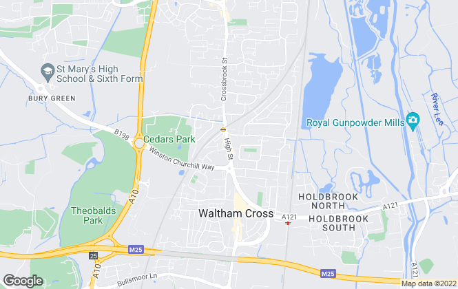 Map for Valley Residentials, Waltham Cross
