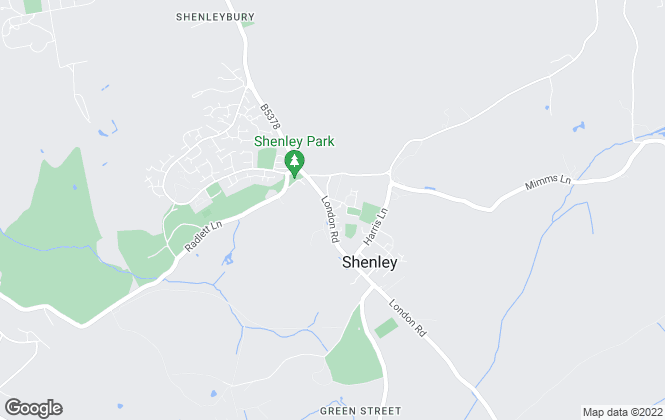 Map for Barkers, Shenley