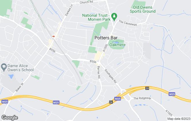 Map for Vanessa McCallum Estates, Potters Bar