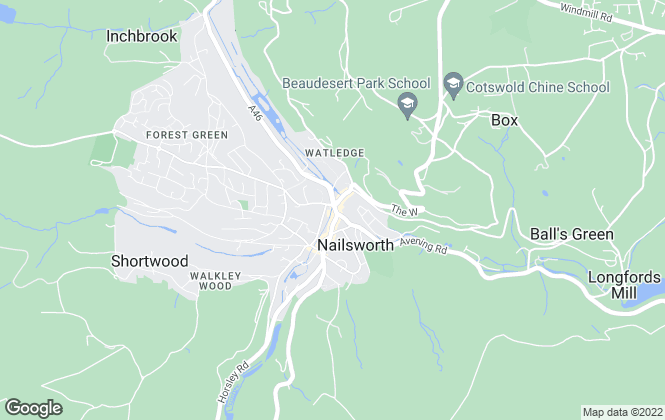 Map for Parkers Estate Agents , Nailsworth