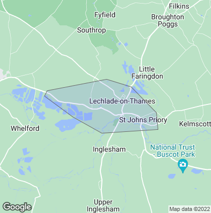 Map of property in Lechlade