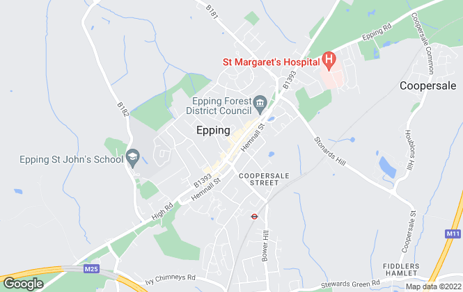 Map for Douglas Allen, Epping