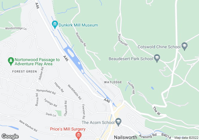 Map for Watledge, Nailsworth, Gloucestershire