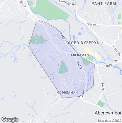 Map of property in Aberaman