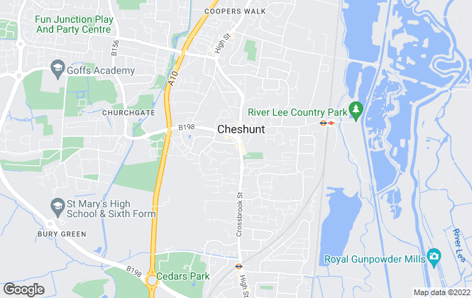 Map for Woodhouse, Cheshunt