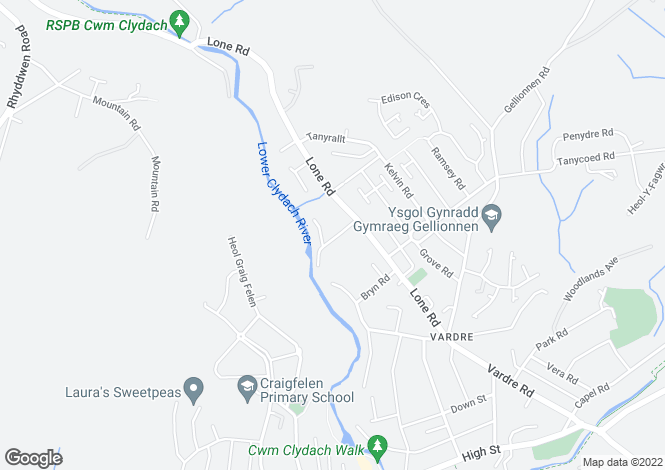 Map for 12 Waungron Road, Clydach, Swansea