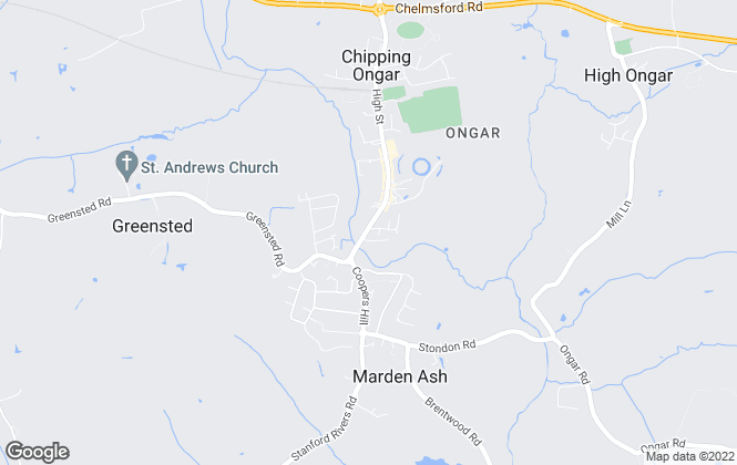 Map for Montagues, Ongar