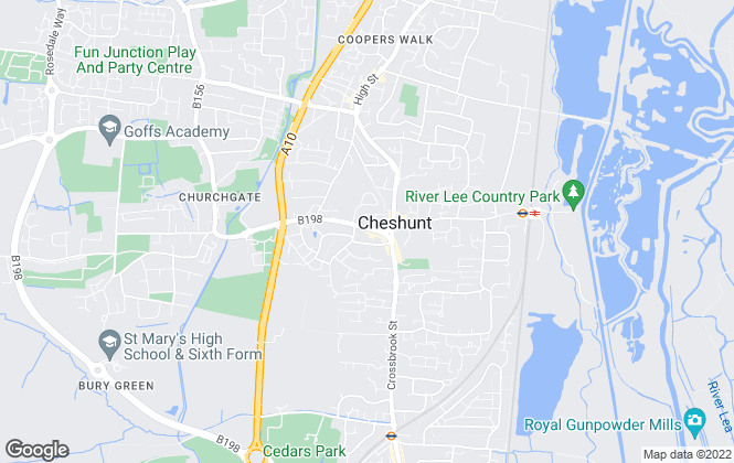 Map for Lanes, Cheshunt