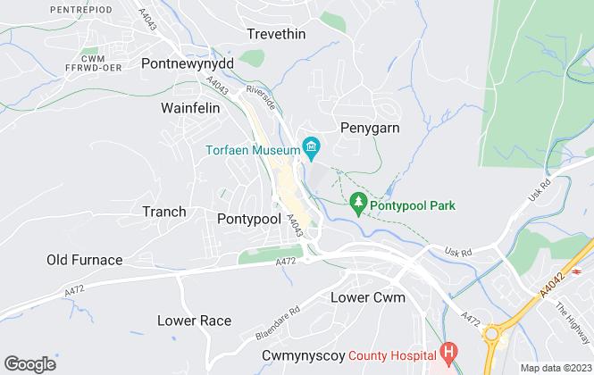 Map for Angelwoods, Pontypool