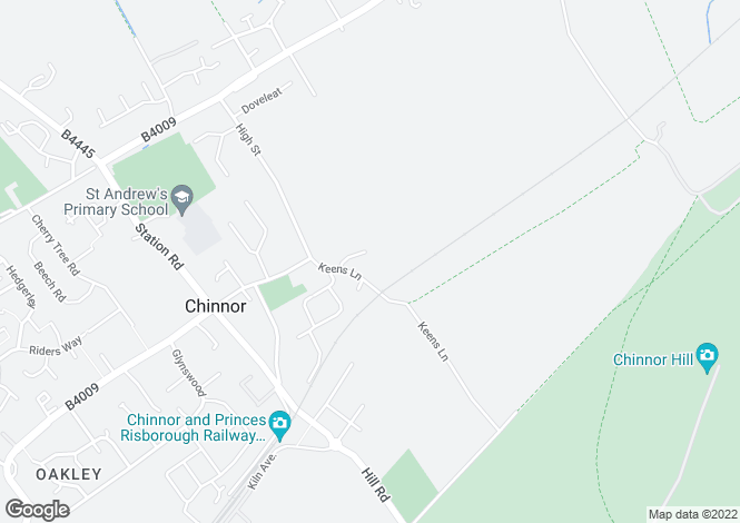Map for Hill Farm Court, CHINNOR