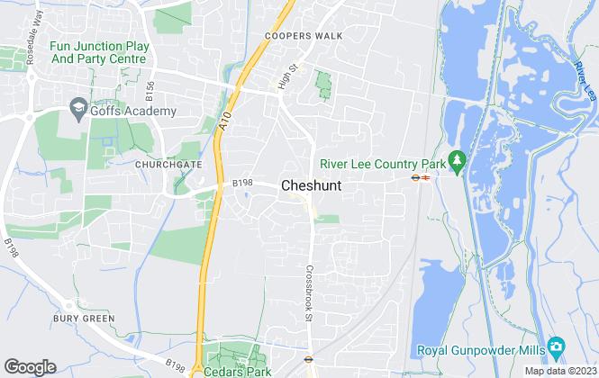 Map for Christopher Stokes, Cheshunt