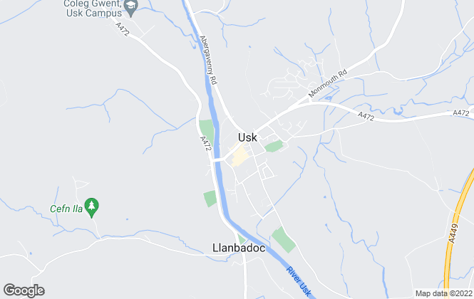 Map for Parrys Property, USK