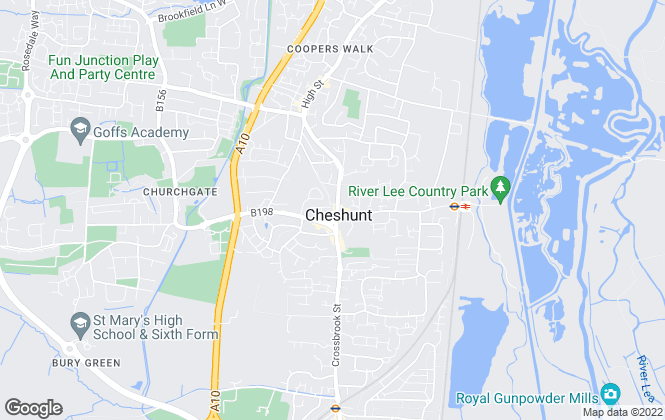 Map for Bairstow Eves, Cheshunt