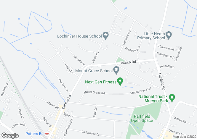 Map for 3, ROSARY COURT, POTTERS BAR