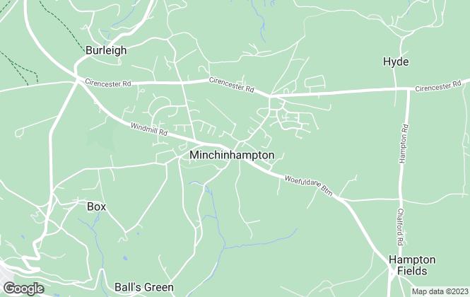 Map for Murrays Estate Agents, Minchinhampton
