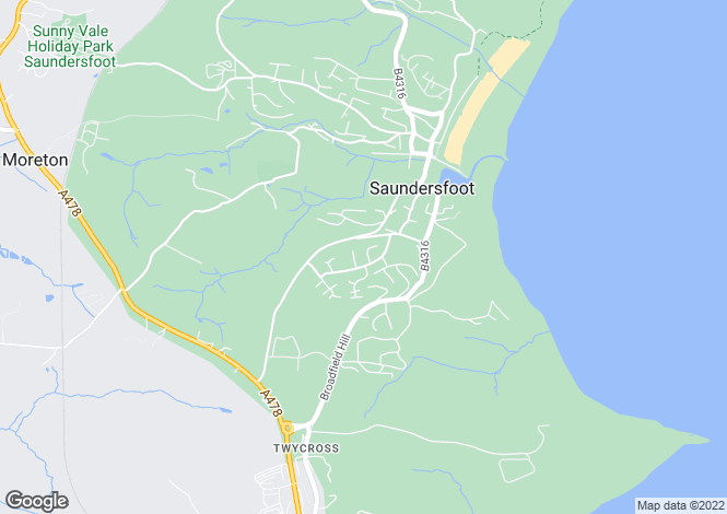 Map for P5319 - Saundersfoot