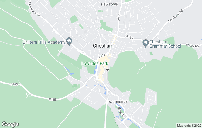 Map for Chancellors, Chesham