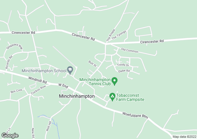 Map for 13 Butt Street, Minchinhampton, Stroud, Glos