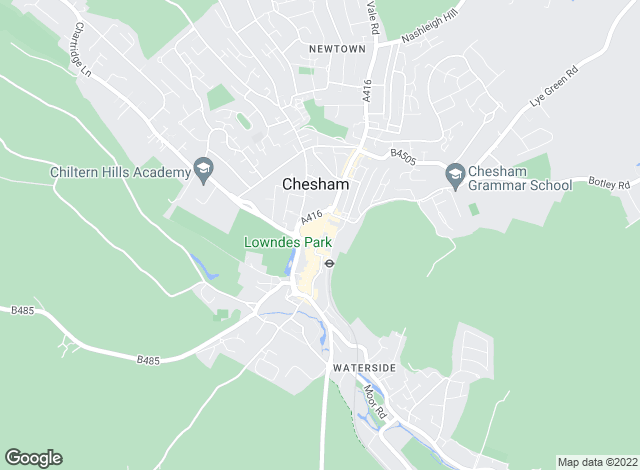 Map for Potter & Ford, Chesham