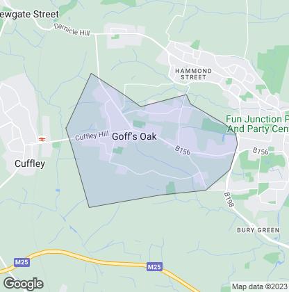 Map of property in Goffs Oak