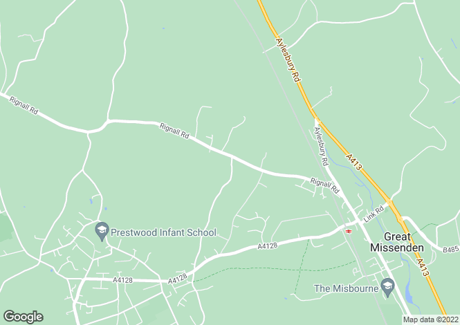 Map for The Limes, Broombarn Lane, Great Missenden, Bucks HP16 9PF