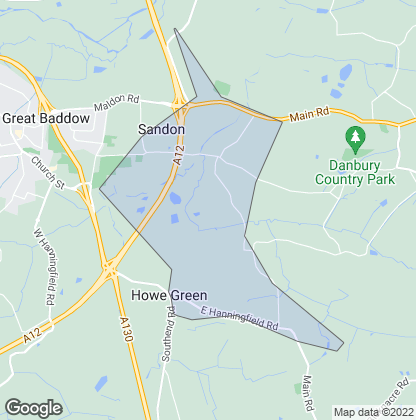Map of property in Sandon