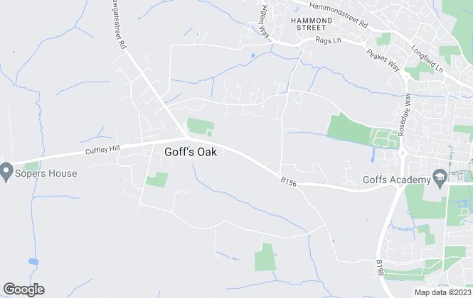 Map for Barrons Residential, Goffs Oak