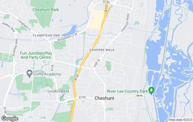 Map for Norman J Shepherd & Co, Cheshunt