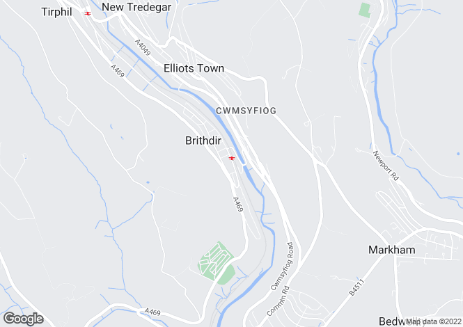 Map for Station Terrace, Brithdir, NEW TREDEGAR, Caerphilly