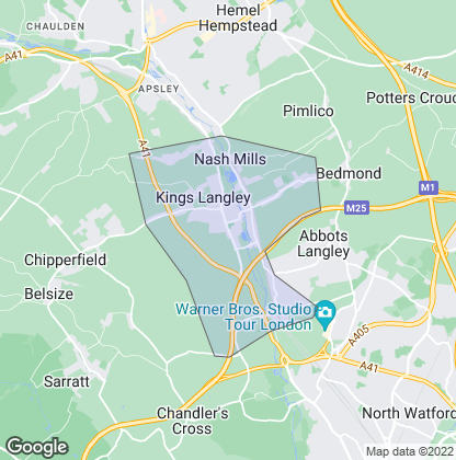 Map of property in Kings Langley