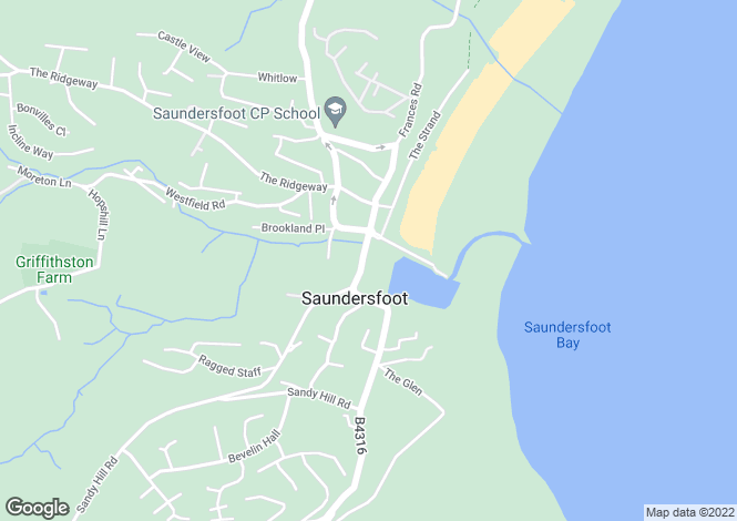 Map for Site at Saundersfoot Harbour, Saundersfoot, Saundersfoot
