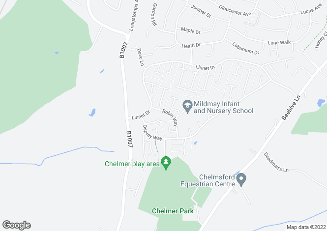 Map for Robin Way Chelmsford Essex