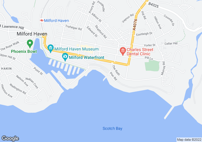 Map for P5021 - Milford Haven