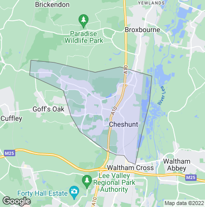 Map of property in Cheshunt