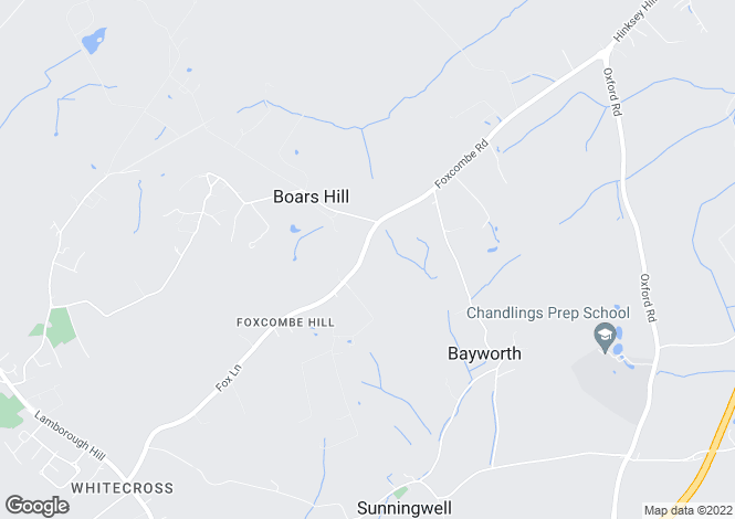 Map for Boars Hill, Oxford, Oxfordshire