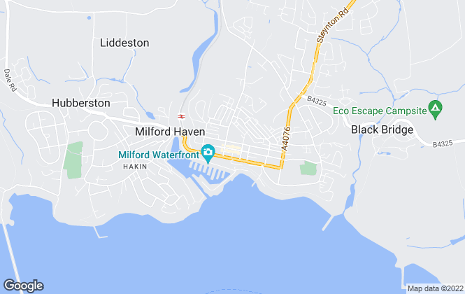 Map for West Wales Properties, Milford Haven
