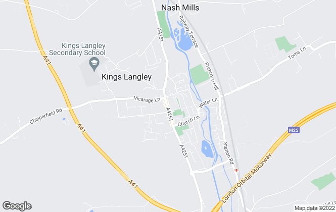 Map for Proffitt & Holt Partnership, Kings Langley