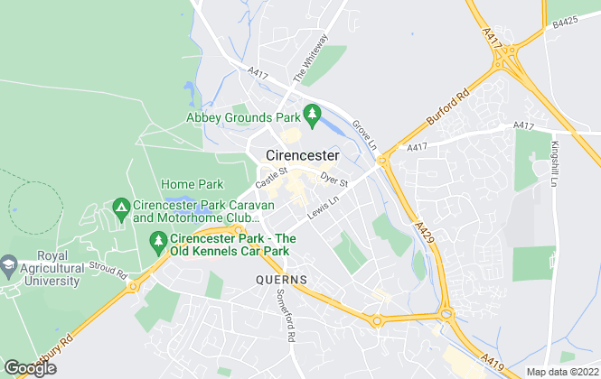 Map for Martin & Co, Cirencester - Lettings & Sales