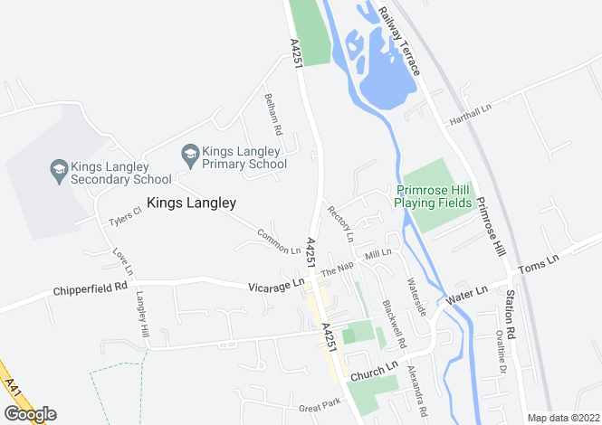 Map for Hempstead Road, Kings Langley, Hertfordshire